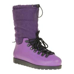 Women's Reneeze Clear-1 Purple Lace-Up Boots