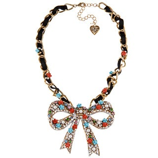 Betsey Johnson Big Bow Pendant Necklace