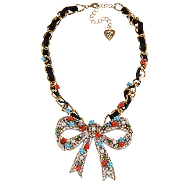 Betsey Johnson Big Bow Pendant Necklace