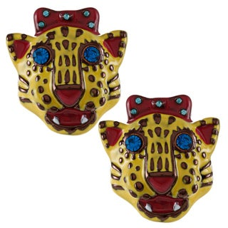 Betsey Johnson Tiger Stud Earrings