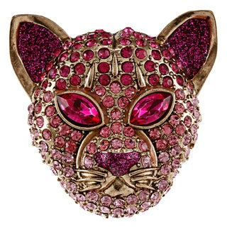 Betsey Johnson Tiger Face Stretch Fashion Ring