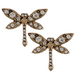 Betsey Johnson Dragonfly Stud Earrings