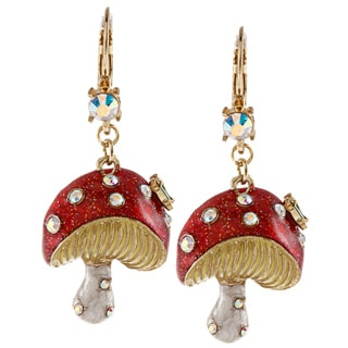 Betsey Johnson Mushroom Drop Dangle Earrings