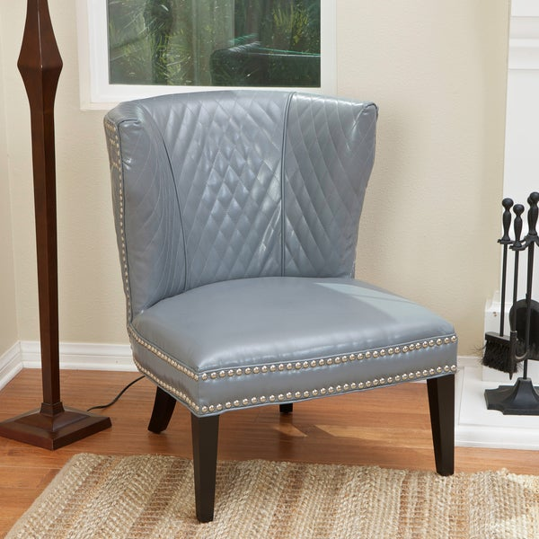 Christopher Knight Home Tessa Grey Quilted Leather Chair