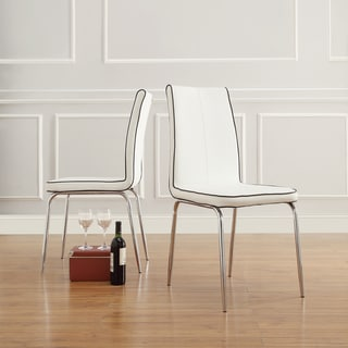 INSPIRE Q Matilda White Retro Modern Dining Chair (Set of 2)