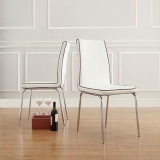 INSPIRE Q Matilda White Retro Modern Dining Chair (Set of 2)
