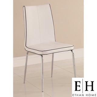 ETHAN HOME Matilda White Retro Modern Dining Chair (Set of 2)