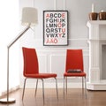 TRIBECCA HOME Matilda Hot Red Retro Modern Dining Chair (Set of 2)