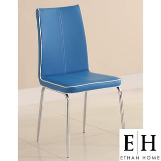 ETHAN HOME Matilda Blue Retro Modern Dining Chair (Set of 2)
