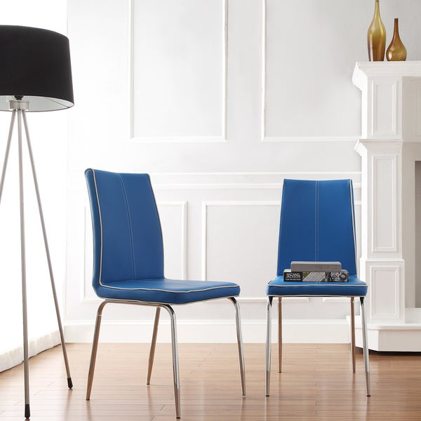 Mid century living matilda blue retro modern dining chair for Retro modern dining chairs