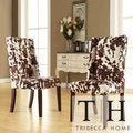 TRIBECCA HOME Ian Brown Cow Hide Wingbac