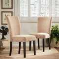 ETHAN HOME Camel Chenille Parson Chairs (Set of 2)
