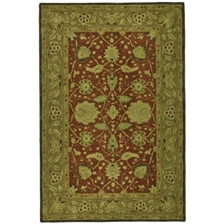 Safavieh Handmade Anatolia Rust/ Green Hand-spun Wool Rug