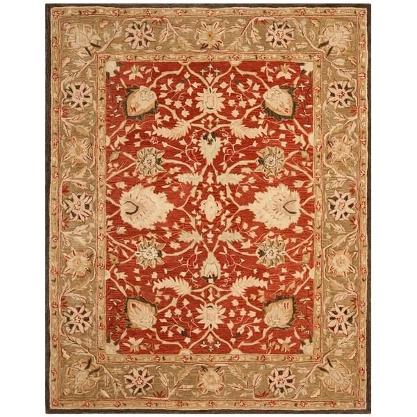 Safavieh Handmade Anatolia Rust/ Green Hand-spun Wool Rug