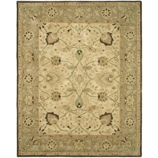 Safavieh Handmade Anatolia Ivory/ Brown Hand-spun Wool Rug