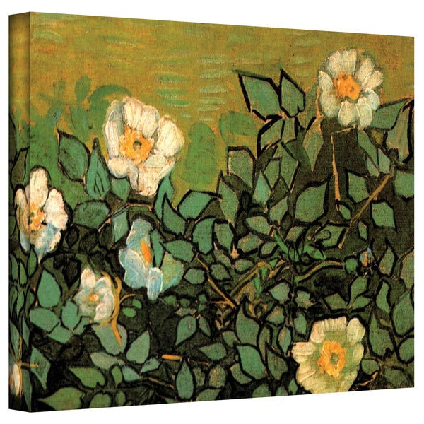 VanGogh 'Wild Roses' Wrapped Canvas