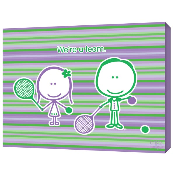 FeLittle People 'Tennis - We're a Team' Wrapped Canvas