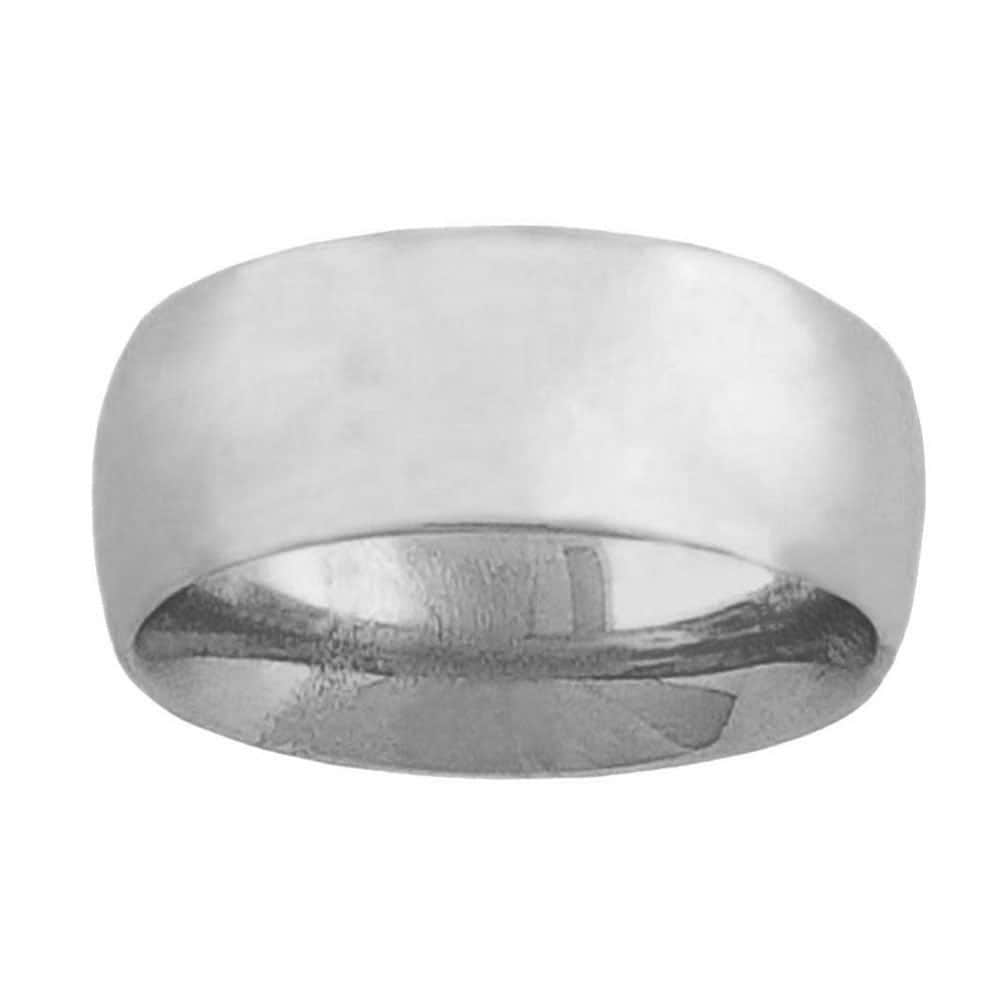 Fremada 14k White Gold 8-mm Wedding Band