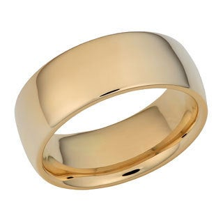 Fremada 14k Yellow Gold 8-mm Wedding Band