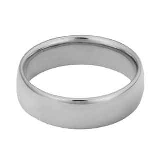 Fremada 14k White Gold 6-mm Wedding Band