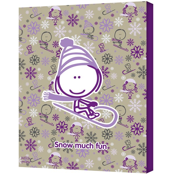 FeLittle People 'Snow Much Fun Girl' Wrapped Canvas