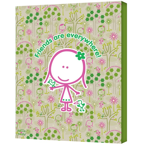 FeLittle People 'Friends Are Everywhere' Wrapped Canvas