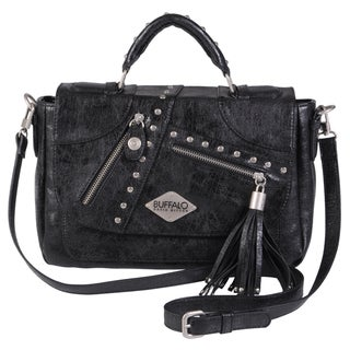 Buffalo David Bitton Studded Tassel Detail Cross-body Bag