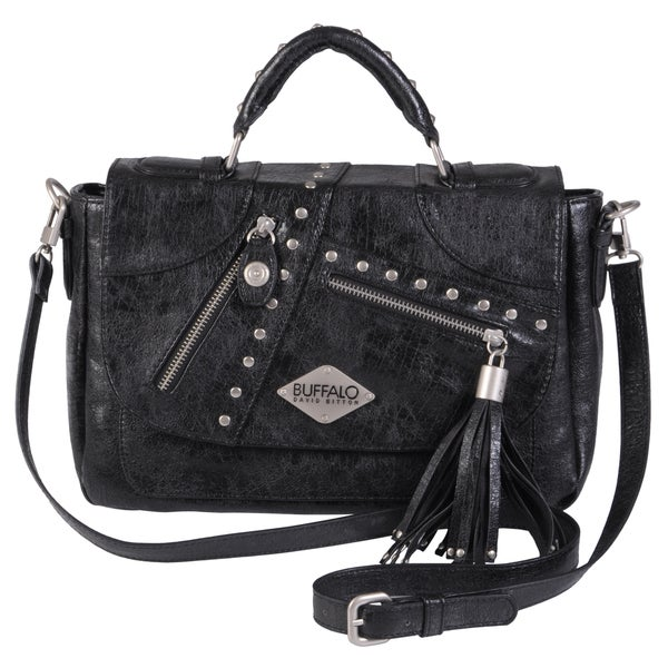 Buffalo David Bitton Studded Tassel Detail Cross-body Bag