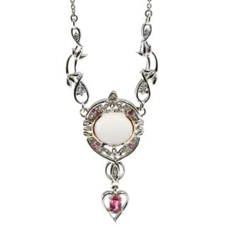 Michael Valitutti Rose Quartz and Pink Tourmaline Necklace