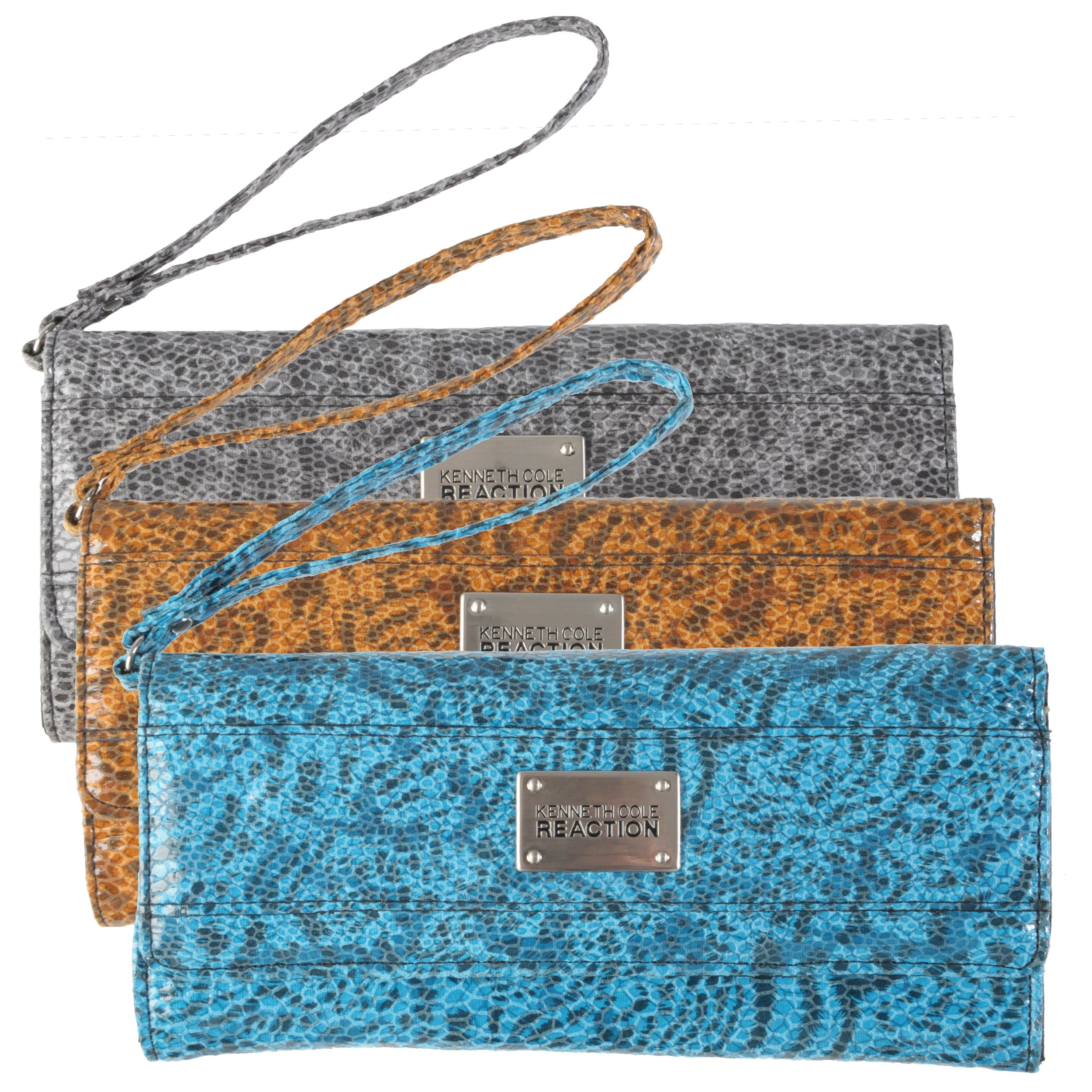Kenneth Cole Reaction Women's Snake Print Clutch Wallet