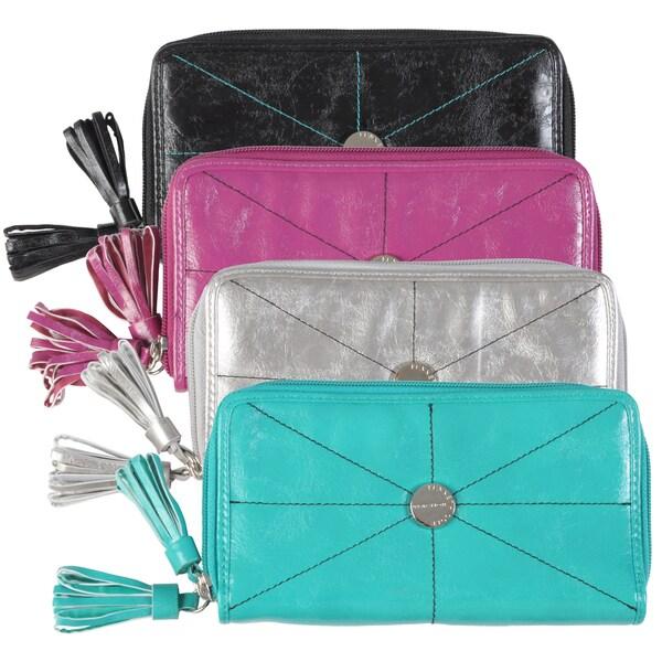 Kenneth Cole Reaction Women's Double Zipper Clutch Wallet