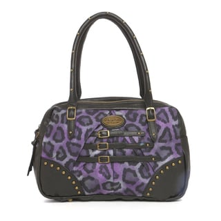 Buffalo David Bitton Studded Double Handle Animal Print Satchel