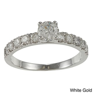 Auriya 14k Gold 1ct TDW Round Diamond Engagement Ring (G-H, I1-I2)