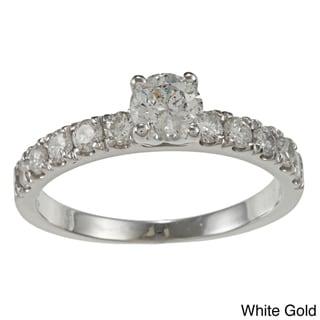 Auriya 14k Gold 1ct TDW Round Diamond Engagement Ring (G-H, I1-I2)
