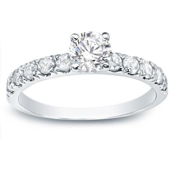 Auriya 14k Gold 1ct TDW Round Diamond Engagement Ring (H-I, I1-I2)