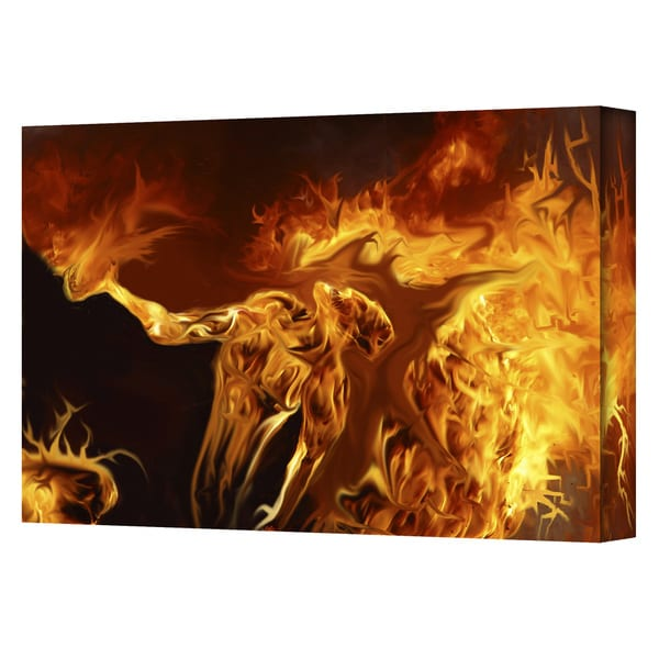 Pyro Painter 'Pyro' Wrapped Canvas