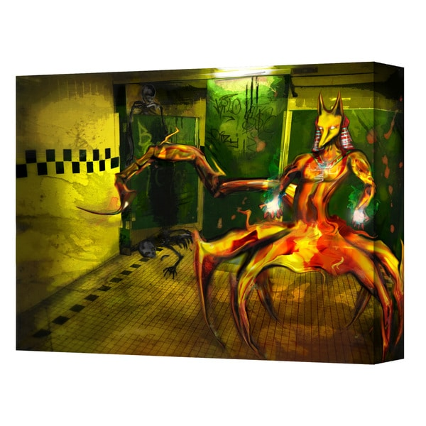 Pyro Painter 'Jackal' Wrapped Canvas Art