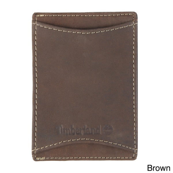 Timberland Men's Topstitched Money Clip