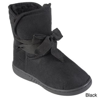 Journee Collection Kid's 'Kuggy' Faux Fur Lined Ribbon Accent Boots