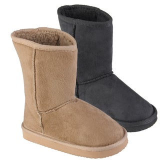 Journee Kids Girls' 'K-ugena' Faux Suede Mid-calf Boots