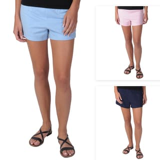Journee Collection Juniors Polyester Knit Athletic Shorts with Elastic Waist