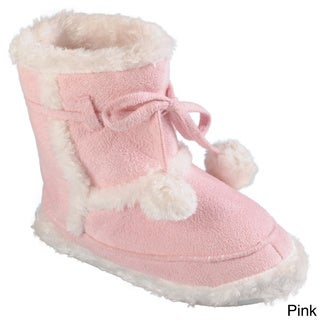 Journee Collection Kid's 'Mimimax' Faux Fur Lined Toggle Slipper Boots