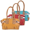 Journee Collection Women's Double Handle Color Block Satchel
