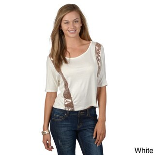 T by Hailey Jeans Co. Women's Dolman Sleeve Sequin Accent Top
