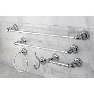 Provence Chrome 5-piece Bathroom Accessory Set