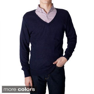 American Apparel Men's Lightweight Knit V-neck Sweater