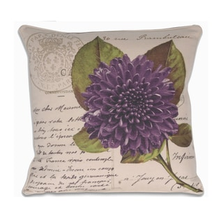 French Purple Postcard Pillow