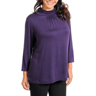 Stanzino Women's Mock Turtleneck Plus Size Sweater