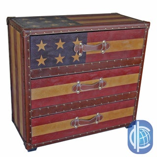International Caravan Americana 'Stars and Stripes' 3 Drawer Chest