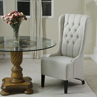 Christopher Knight Home Champion Tufted Light Beige Fabric Dining Chair (Single)